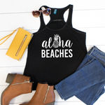 Aloha Beaches Tank - Tickled Teal LLC