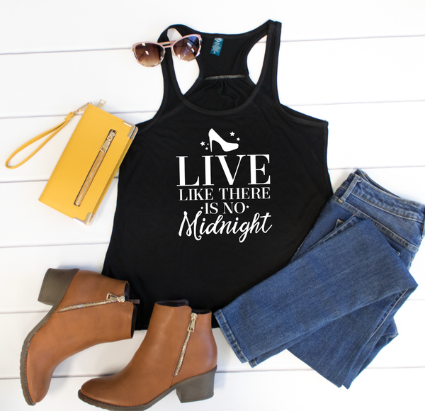 Live Like There is No Midnight Tank - Tickled Teal LLC
