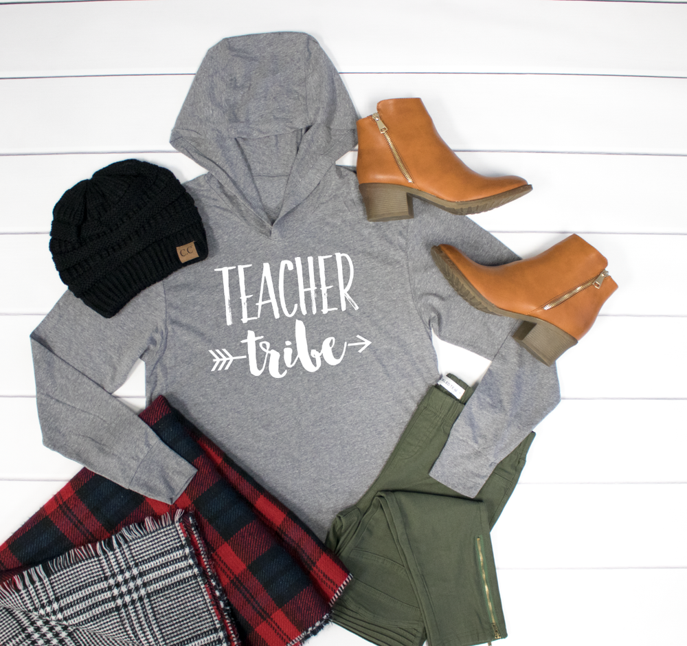 Teacher Tribe Graphic Hoodie - Tickled Teal LLC