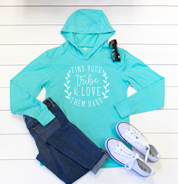 Find Your Tribe Graphic Hoodie - Tickled Teal LLC