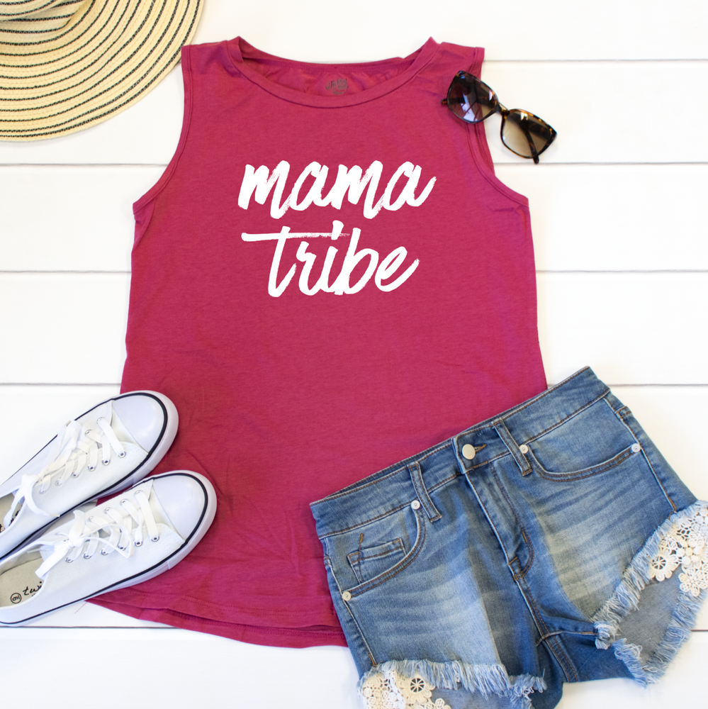 Mama Tribe Muscle Tank - Tickled Teal LLC