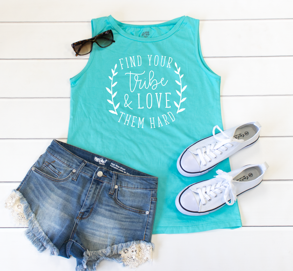 Find Your Tribe Muscle Tank - Tickled Teal LLC