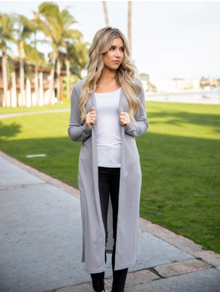 Duster Cardigan - Gray