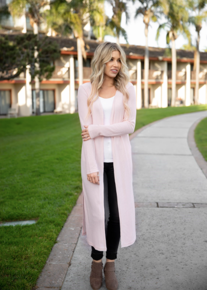 Duster Cardigan - Pink