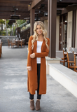 Spring Duster Cardigan - Rust