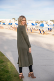 Duster Cardigan - Olive