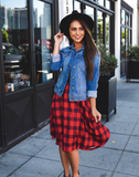 Plaid Laura Skirt