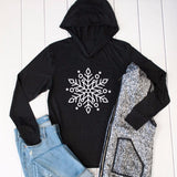 Snowflake Graphic Hoodie - Tickled Teal LLC