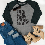 TV Cast Raglan Tee - Tickled Teal LLC