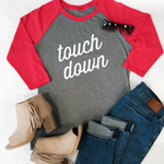Touchdown Raglan Tee - Tickled Teal LLC