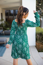 The Triana Dress - Green Floral