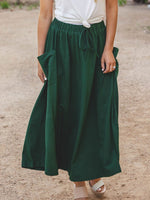 The Olive Pocket Skirt - Green
