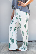 Cactus Wide Leg Lounger - Tickled Teal LLC