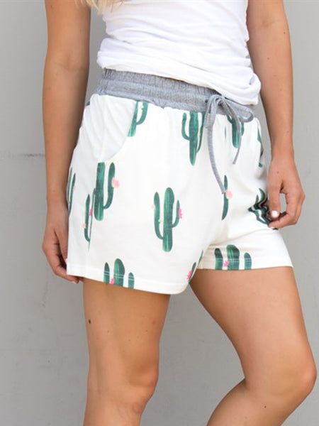 Cactus Lounge Shorts - Tickled Teal LLC