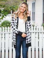 Vivian Cardigan - White Plaid