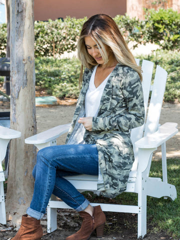 The Chloe Camo Cardigan