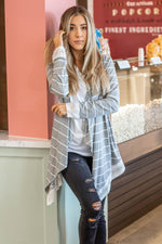 The Harlow Cardigan - Gray - Tickled Teal LLC