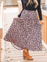 Animal Print Olive Pocket Skirt - Taupe