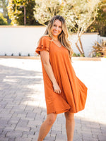 The Gabriella Dress - Orange/Clay