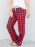 Buffalo Plaid Wide Leg Lounger - Tickled Teal LLC