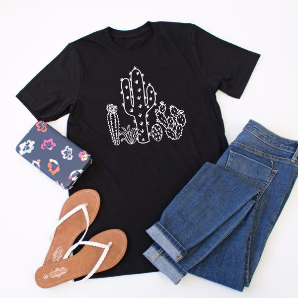 Cactus Crew Neck Tee - Tickled Teal LLC