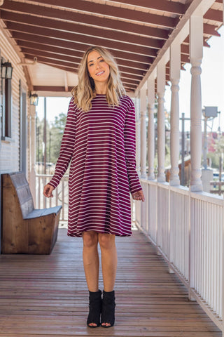 The Jamey Dress - Burgundy