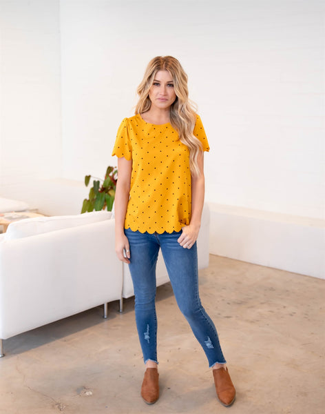 The Dotty Top - Mustard