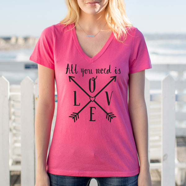 All you need is LOVE Tshirt - Tickled Teal LLC