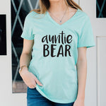 Auntie Bear Tshirt - Tickled Teal LLC