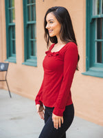 The Paisley Top - Cranberry