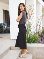 Dove Gaucho Pants - Black