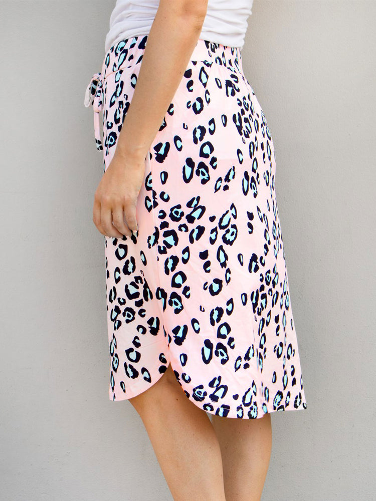 Cheetah Weekend Skirt - Pink