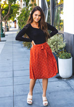 Eden Skirt - Burnt Orange