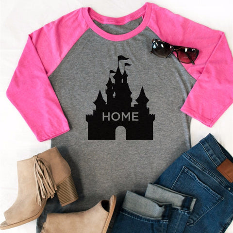 Castle Home Raglan Tee - Tickled Teal LLC