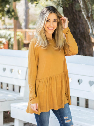 The Evelyn Top - Mustard