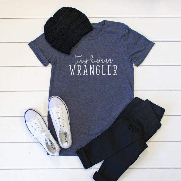 Tiny human Wrangler Crew Neck Tee - Tickled Teal LLC