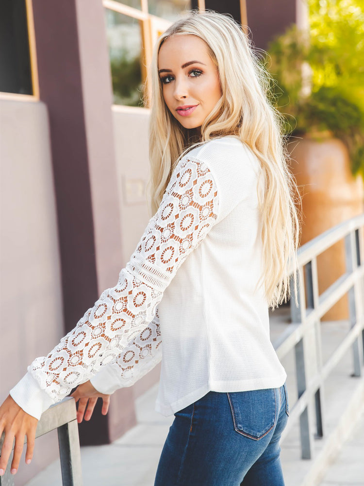 The Skylar Top - White