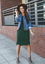 Solid Weekend Skirt - Green