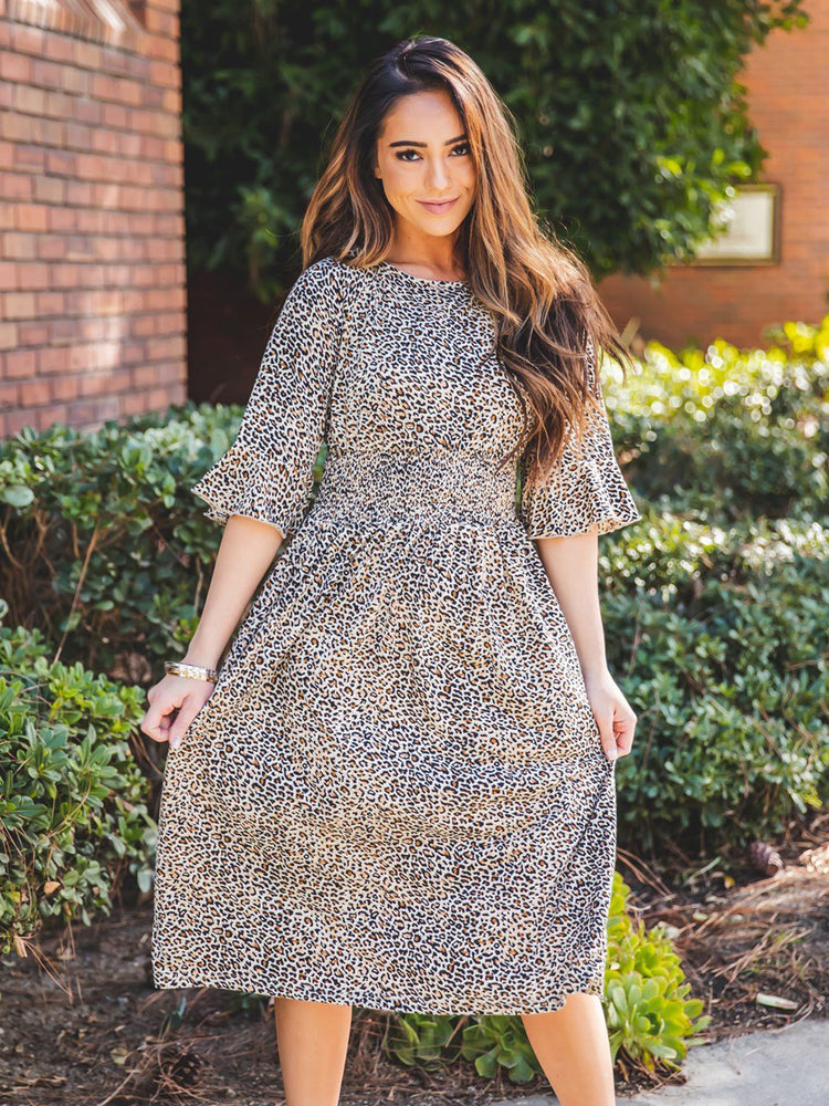 The Jojo Dress - Small Brown Cheetah