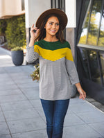 Darla Top - Green/Yellow/Charcoal