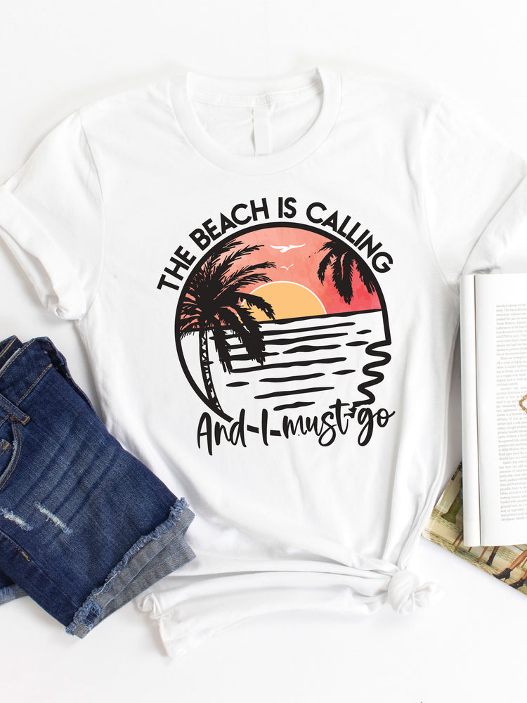Beach is Calling Graphic Tee