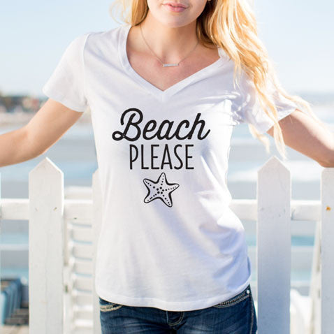 Beach Please Tshirt - Tickled Teal LLC