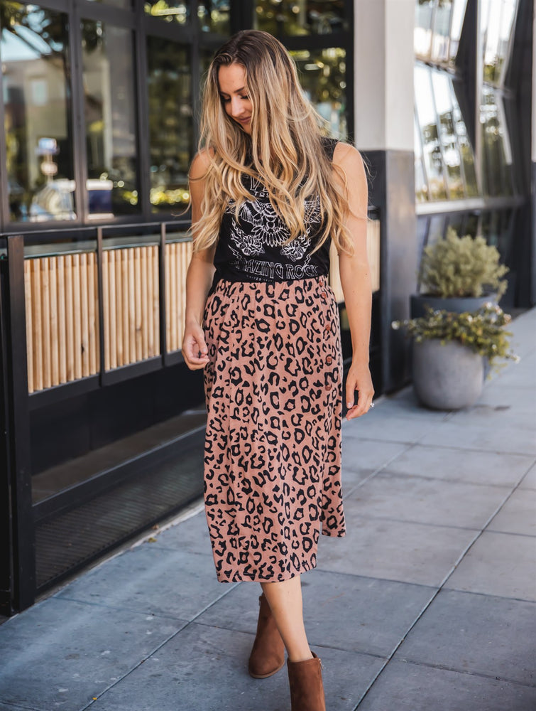 The Candace Skirt - Brown Leopard