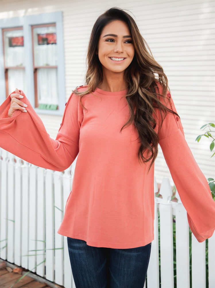 The Perry Top - Peach
