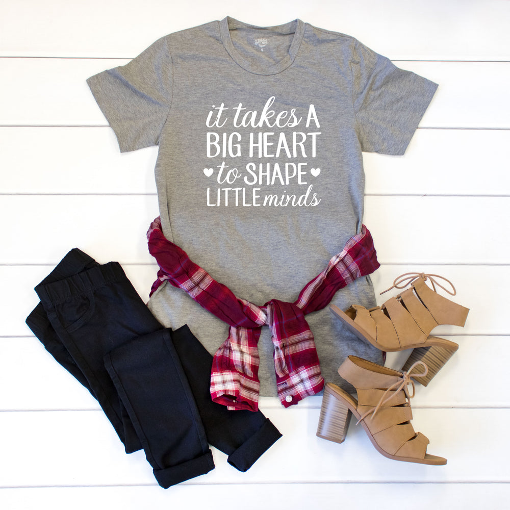It takes a big heart to shape little minds Crew Neck Tee