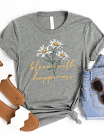 Bloom with Happiness Graphic Tee