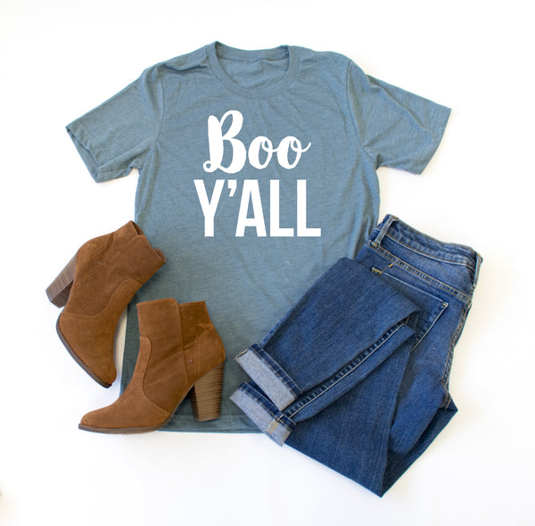 Boo Y'all Crew Neck Tee