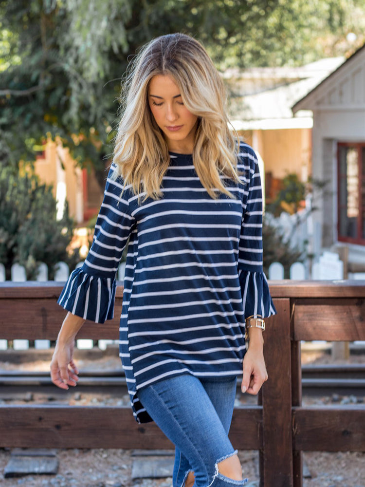 The Gracie Top - Navy
