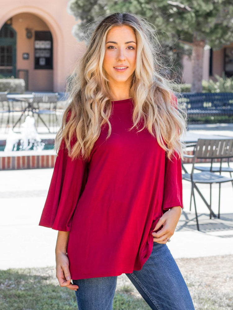 Solid Austin Top - Red
