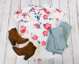 Floral Tunic Tee - Tickled Teal LLC